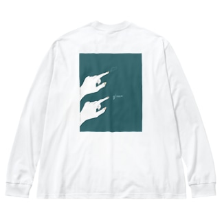 gleam_hutari Big silhouette long sleeve T-shirts
