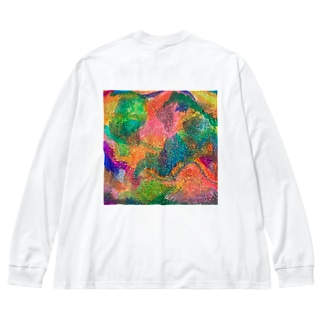 キラキラに埋れたい…! Big silhouette long sleeve T-shirts