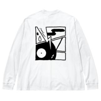 レトロ大作戦 Big silhouette long sleeve T-shirts