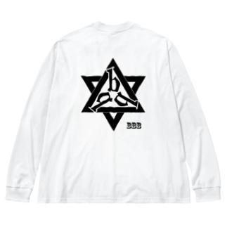 バックプリント「bbb」 Big silhouette long sleeve T-shirts