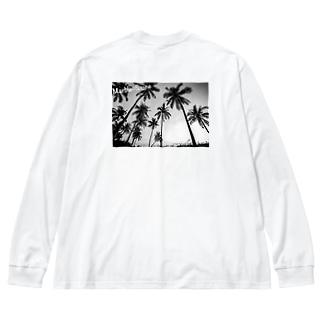 モノクロシリーズ Big silhouette long sleeve T-shirts