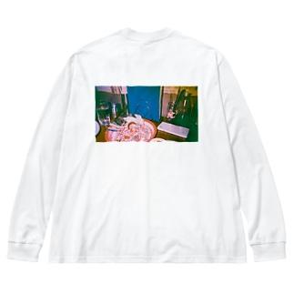 いつでもエスニック Big silhouette long sleeve T-shirts