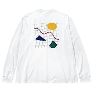 メンフィス  Big silhouette long sleeve T-shirts