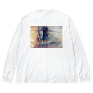 イートインとドーナツ Big silhouette long sleeve T-shirts