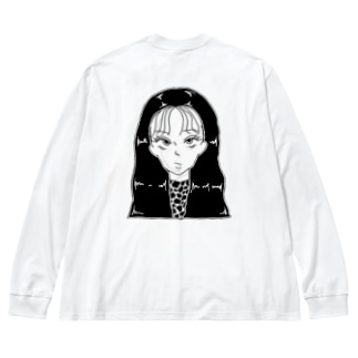 FACE Big silhouette long sleeve T-shirts