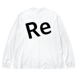 Re Big silhouette long sleeve T-shirts