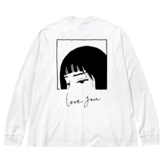 love you.......❤︎ Big silhouette long sleeve T-shirts