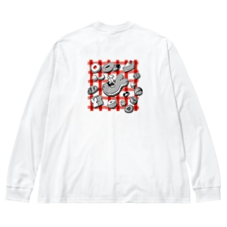 【エポッくん】スイーツとエモ Big silhouette long sleeve T-shirts