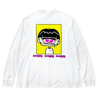 hungry  hungry  hungry Big silhouette long sleeve T-shirts