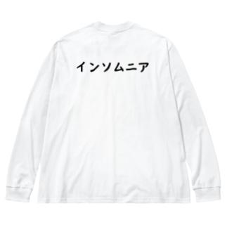 インソムニア Big silhouette long sleeve T-shirts