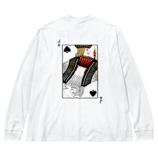 banned スペルJ Big silhouette long sleeve T-shirts
