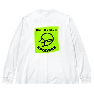 My Friend SPARROW Big silhouette long sleeve T-shirts