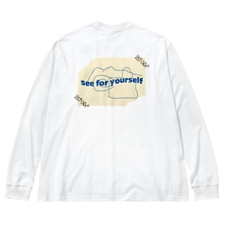 see for yourself Big silhouette long sleeve T-shirts