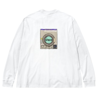 コインランドリー Big silhouette long sleeve T-shirts