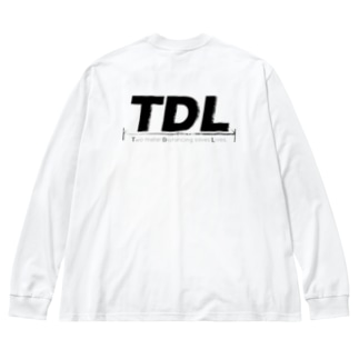 TDL【Two-meter  Distancing saves Lives.】 Big silhouette long sleeve T-shirts