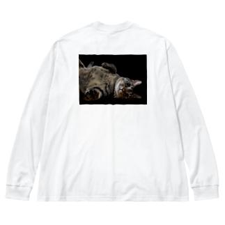 Big boy 蓮君 Big silhouette long sleeve T-shirts