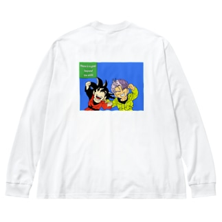 BoogerPickのThere is a goal beyond the smile Big silhouette long sleeve T-shirts