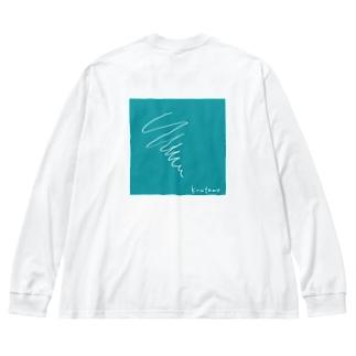うずまき Big silhouette long sleeve T-shirts