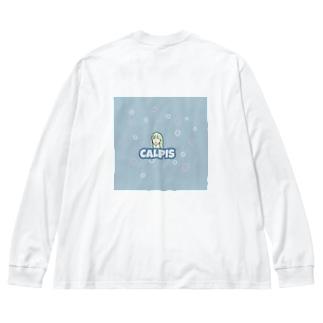 CALPISみたいな女の子 Big Silhouette Long Sleeve T-Shirt