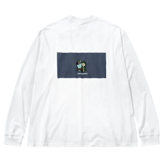ボタニカルな女の子! Big silhouette long sleeve T-shirts