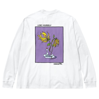 coco70のバックプリント L/S T-shirt by coco70 Big silhouette long sleeve T-shirts