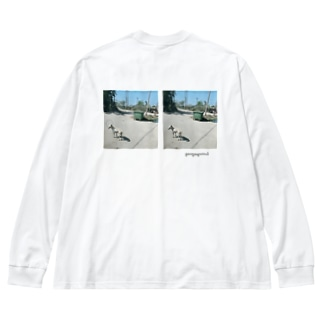 innu Big silhouette long sleeve T-shirts