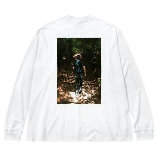 山T Big silhouette long sleeve T-shirts