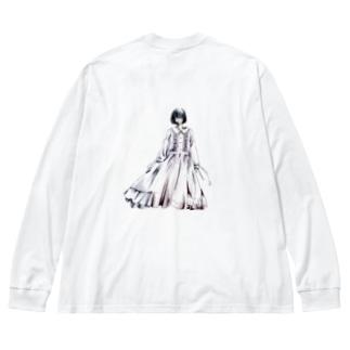 少女H Big silhouette long sleeve T-shirts