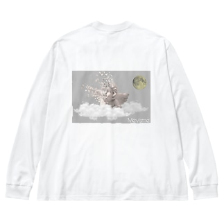Collapse Big silhouette long sleeve T-shirts