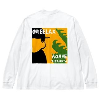 GREELAX コラボ パキポキ Big silhouette long sleeve T-shirts