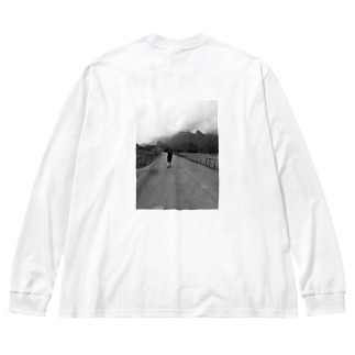 バンビエンの路上 Big silhouette long sleeve T-shirts