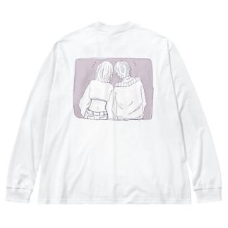 友達 Big silhouette long sleeve T-shirts