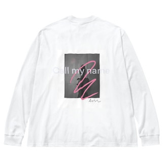 Just call my name Big silhouette long sleeve T-shirts
