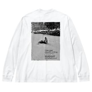 ヤンチャーズ2ndシーズん Big silhouette long sleeve T-shirts