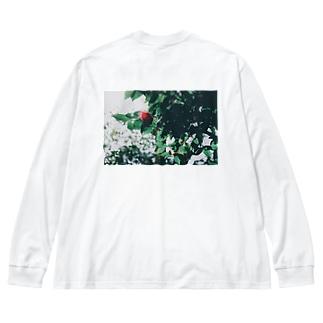 透ける葉 Big silhouette long sleeve T-shirts