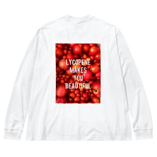 トマトパワー Big silhouette long sleeve T-shirts
