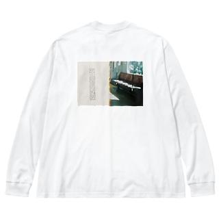 ウーロンハイがスキ Big silhouette long sleeve T-shirts