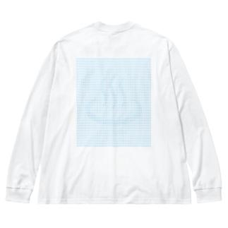 騙し絵銭湯 Big silhouette long sleeve T-shirts