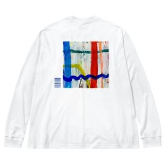 HIDE11window Big silhouette long sleeve T-shirts