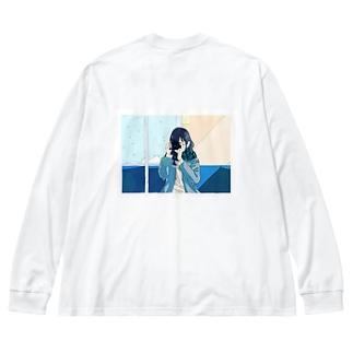 カメラ女子 Big Silhouette Long Sleeve T-Shirt