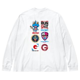 GATAロゴ【黒】 Big silhouette long sleeve T-shirts