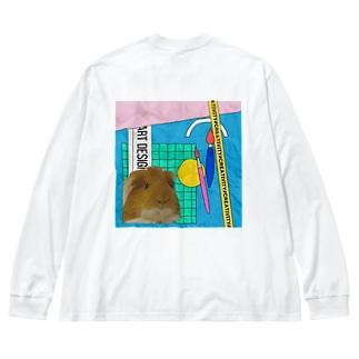 モルモットのラム Big Silhouette Long Sleeve T-Shirt