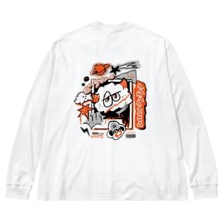 DARYYYYYY_white Big Long Sleeve T-shirt