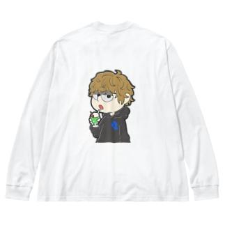 クリームソーダ Big silhouette long sleeve T-shirts