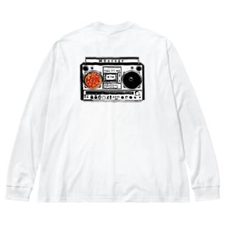 MGarage '90 ラジカセ&ピザ🍕 Big Silhouette Long Sleeve T-Shirt