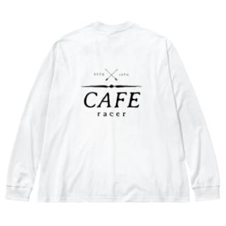 Caferacer ロゴ ブラック Big Long Sleeve T-shirt