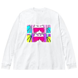 W MUZIGURASAN UP Big silhouette long sleeve T-shirts