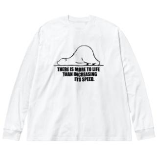 しろくま名言その1 Big silhouette long sleeve T-shirts