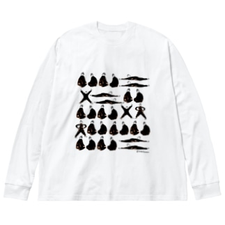 黒子の休息 Big silhouette long sleeve T-shirts