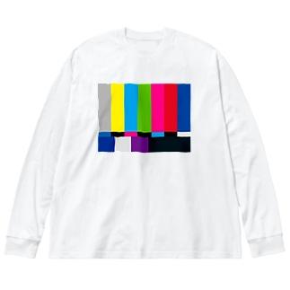 カラーバー Big silhouette long sleeve T-shirts
